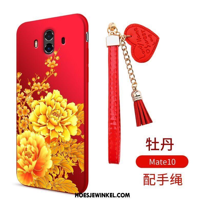 Huawei Mate 10 Hoesje Scheppend Rood Zacht, Huawei Mate 10 Hoesje Mobiele Telefoon Ondersteuning