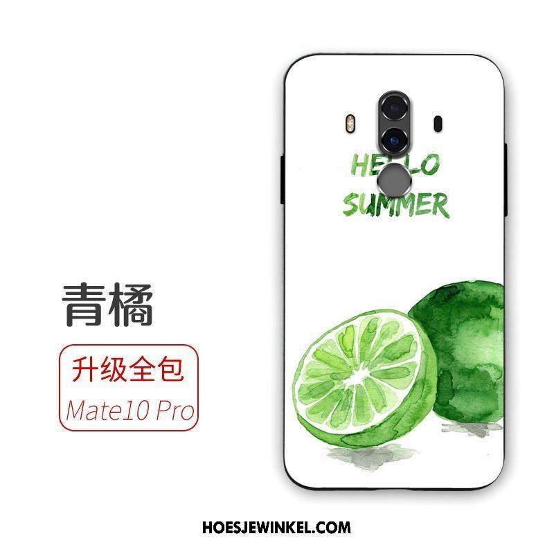 Huawei Mate 10 Pro Hoesje Trend Mobiele Telefoon Groen, Huawei Mate 10 Pro Hoesje Bescherming Anti-fall