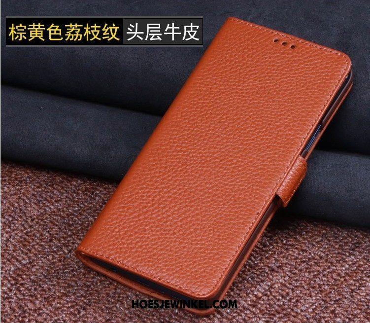 Huawei Mate 20 Lite Hoesje Zacht Bescherming Anti-fall, Huawei Mate 20 Lite Hoesje Mobiele Telefoon Echt Leer Braun