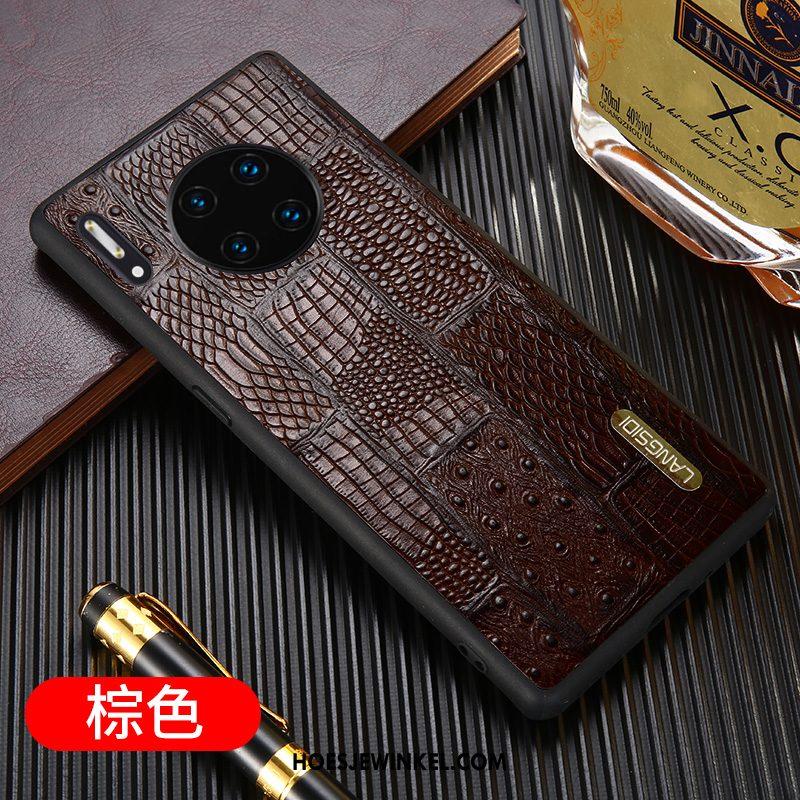 Huawei Mate 30 Pro Hoesje Hoes Nieuw Luxe, Huawei Mate 30 Pro Hoesje Leer High End