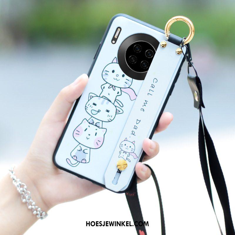 Huawei Mate 30 Pro Hoesje Mooie Spotprent Schrobben, Huawei Mate 30 Pro Hoesje Bescherming Hanger