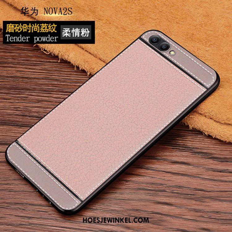 Huawei Nova 2s Hoesje Mobiele Telefoon Zacht Siliconen, Huawei Nova 2s Hoesje Leren Etui Braun
