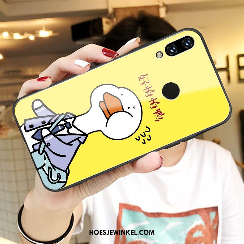 Huawei Nova 3i Hoesje Spotprent Glas Mobiele Telefoon, Huawei Nova 3i Hoesje Trend Hoes