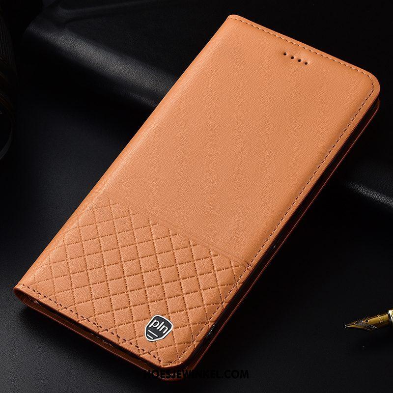 Huawei P Smart 2019 Hoesje Geruite Bescherming Geel, Huawei P Smart 2019 Hoesje Mobiele Telefoon Hoes