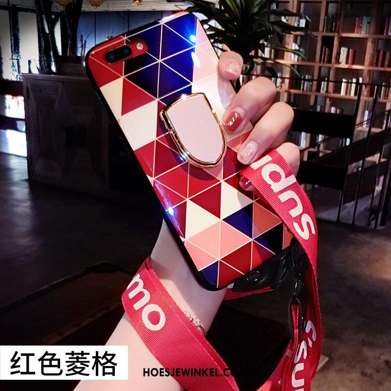 Huawei P10 Plus Hoesje Ruit Blauw Scheppend, Huawei P10 Plus Hoesje Anti-fall Hanger