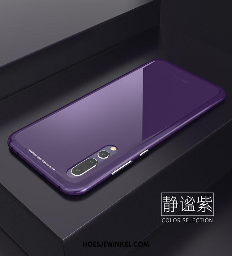Huawei P20 Hoesje Anti-fall Metaal Omlijsting, Huawei P20 Hoesje Dun Bescherming