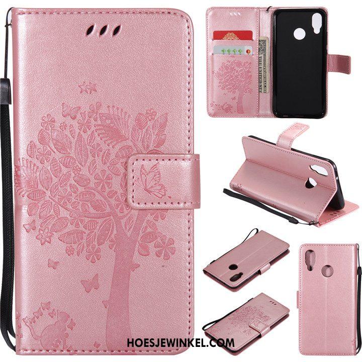 Huawei P20 Lite Hoesje Leren Etui Hoes Clamshell, Huawei P20 Lite Hoesje Anti-fall Mobiele Telefoon