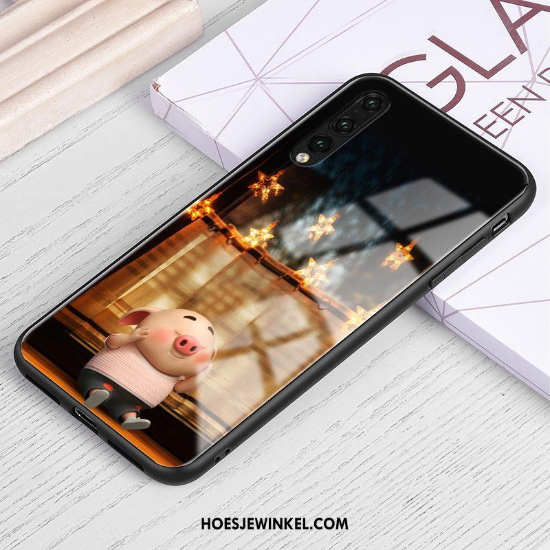 Huawei P30 Hoesje Eenvoudige Scheppend Spotprent, Huawei P30 Hoesje Persoonlijk Dun Braun