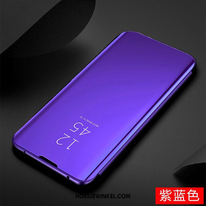 Huawei P40 Lite Hoesje Mobiele Telefoon Spiegel Hoes, Huawei P40 Lite Hoesje Bescherming Geel