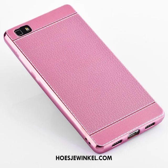 Huawei P8 Hoesje Hemming Mobiele Telefoon Zacht, Huawei P8 Hoesje Anti-fall Roze