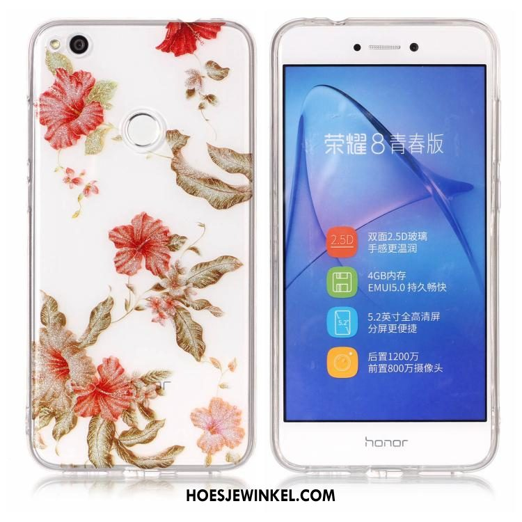 Huawei P8 Lite 2017 Hoesje Zacht Purper Roze, Huawei P8 Lite 2017 Hoesje Hoes Mobiele Telefoon