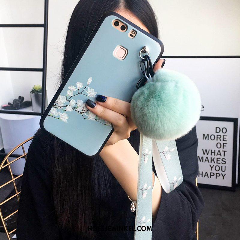 Huawei P9 Hoesje Lichtblauw Driedimensionaal Reliëf, Huawei P9 Hoesje All Inclusive Mobiele Telefoon