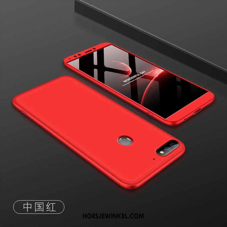 Huawei Y7 2018 Hoesje Rood All Inclusive Scheppend, Huawei Y7 2018 Hoesje Anti-fall Trend