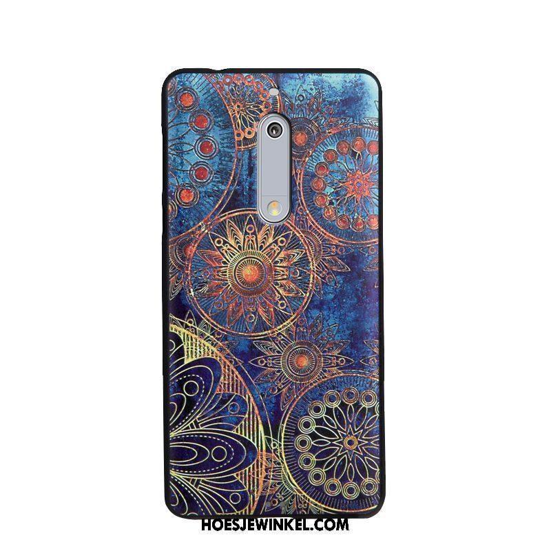 Nokia 5 Hoesje Hoes Bescherming Spotprent, Nokia 5 Hoesje Zacht Mobiele Telefoon