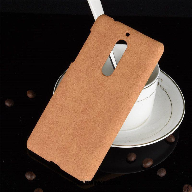 Nokia 5 Hoesje Mobiele Telefoon Anti-fall Schrobben, Nokia 5 Hoesje Leer Hard