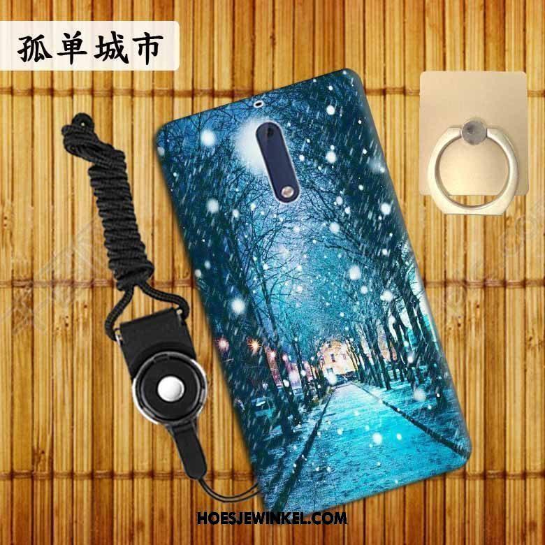 Nokia 5 Hoesje Trend Anti-fall Mobiele Telefoon, Nokia 5 Hoesje Bescherming Blauw