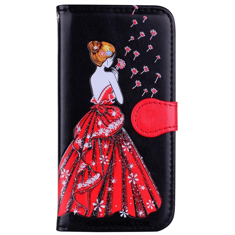 Samsung Galaxy A5 2017 Hoesje Bescherming Clamshell Mobiele Telefoon, Samsung Galaxy A5 2017 Hoesje Ster Leren Etui