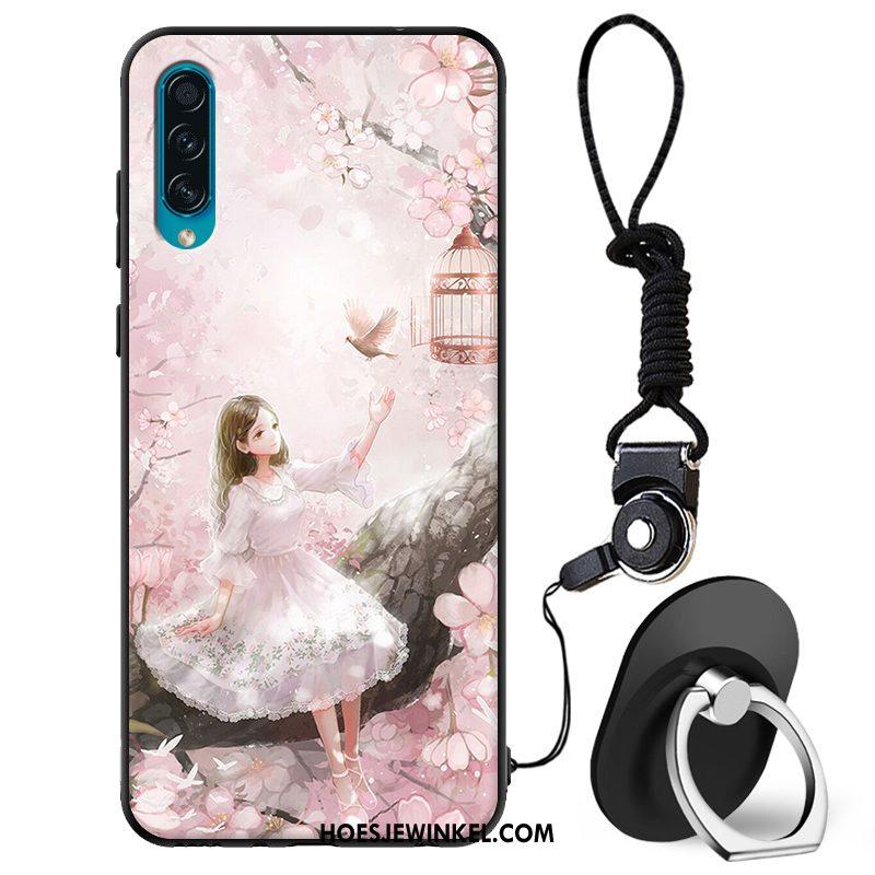 Samsung Galaxy A50s Hoesje Mobiele Telefoon Zacht Schrobben, Samsung Galaxy A50s Hoesje Roze Ster