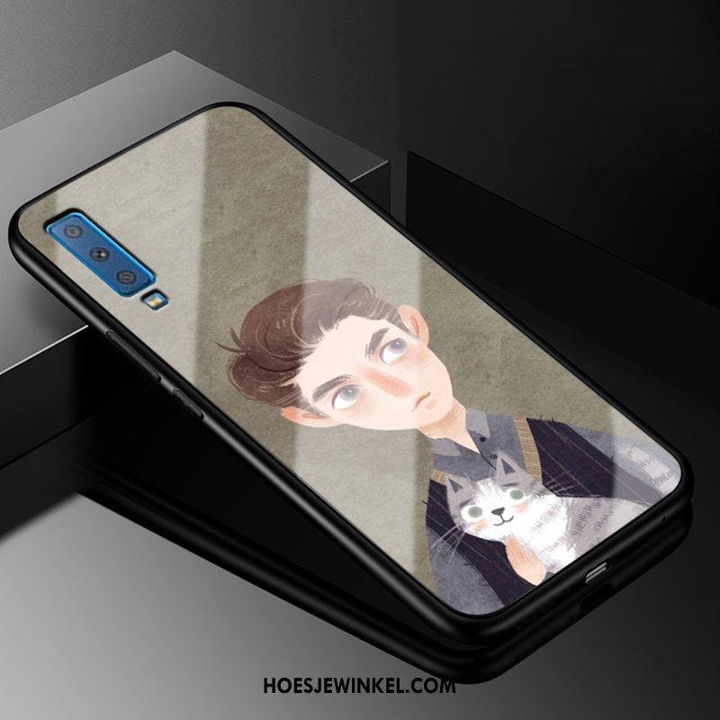 Samsung Galaxy A7 2018 Hoesje Europa Glas Kunst, Samsung Galaxy A7 2018 Hoesje Siliconen Ster
