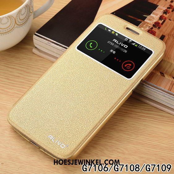Samsung Galaxy A9 2018 Hoesje Hard Leren Etui Rose Goud, Samsung Galaxy A9 2018 Hoesje Mobiele Telefoon Bescherming