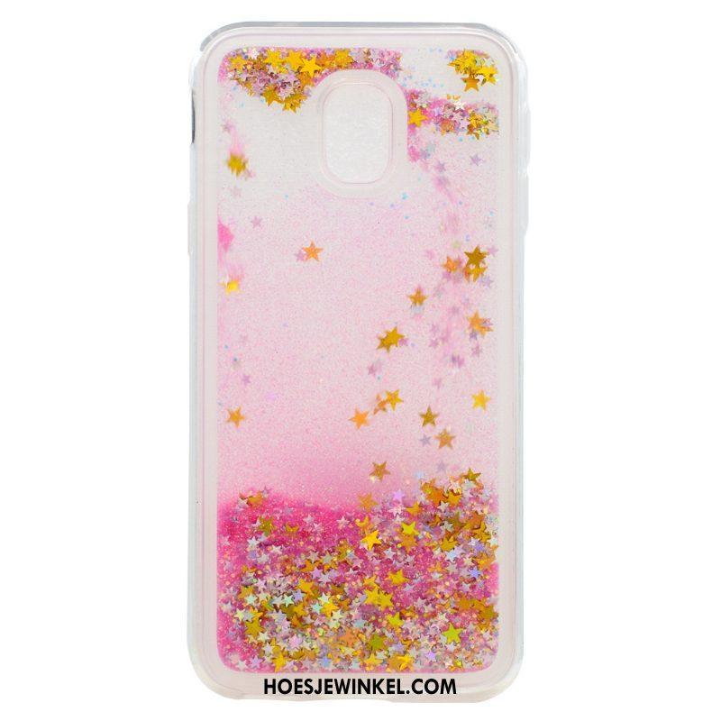 Samsung Galaxy J3 2017 Hoesje Purper Mobiele Telefoon Bescherming, Samsung Galaxy J3 2017 Hoesje Drijfzand Siliconen