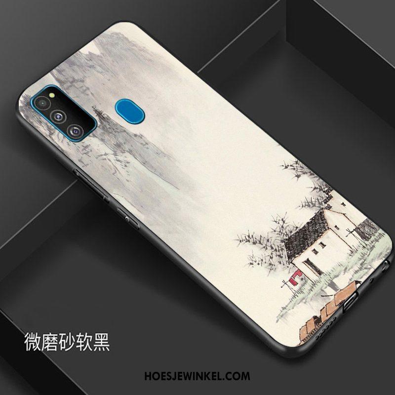 Samsung Galaxy M30s Hoesje Anti-fall Scheppend Bescherming, Samsung Galaxy M30s Hoesje Wind Trendy Merk