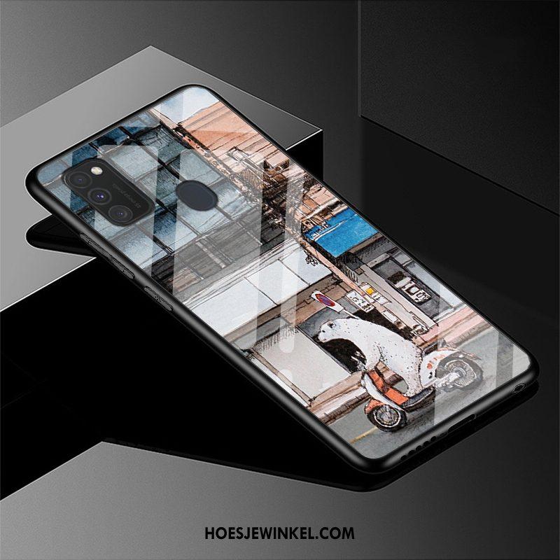 Samsung Galaxy M30s Hoesje Mooie Eenvoudige Ster, Samsung Galaxy M30s Hoesje Spotprent Nieuw