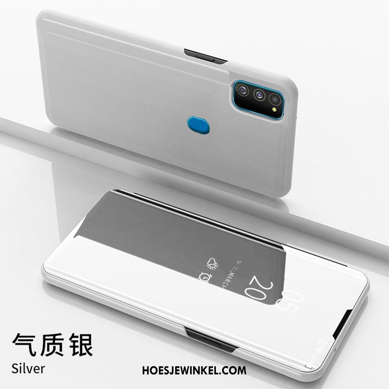 Samsung Galaxy M30s Hoesje Spiegel Purper Mobiele Telefoon, Samsung Galaxy M30s Hoesje Folio Bedrijf