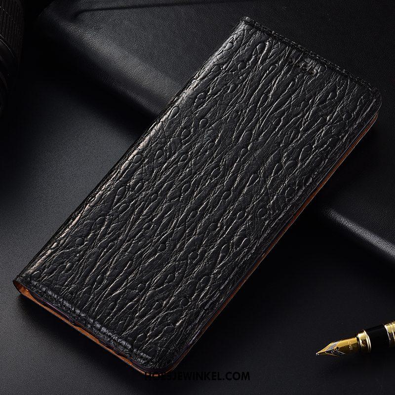 Samsung Galaxy Note 10+ Hoesje Leren Etui Rood Bescherming, Samsung Galaxy Note 10+ Hoesje Vogel Folio
