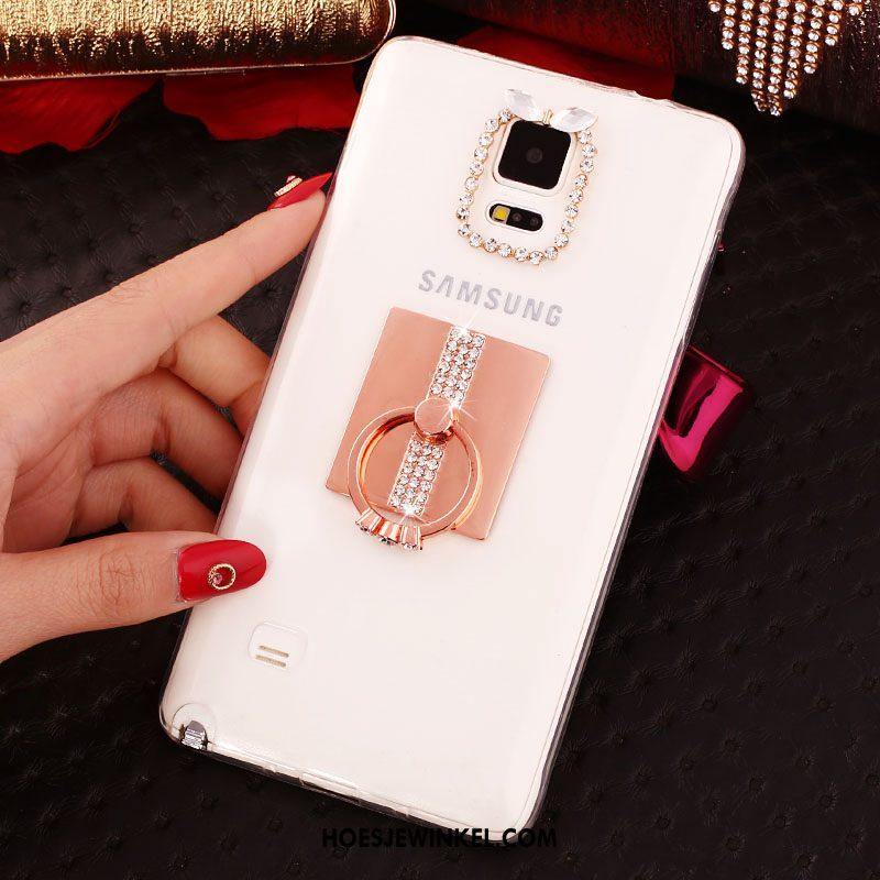 Samsung Galaxy Note 4 Hoesje Bescherming Zacht Luxe, Samsung Galaxy Note 4 Hoesje Hoes Rose Goud