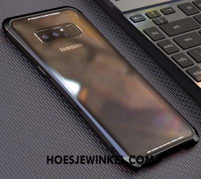 Samsung Galaxy Note 8 Hoesje Achterklep Ster Blauw, Samsung Galaxy Note 8 Hoesje Anti-fall Gehard Glas