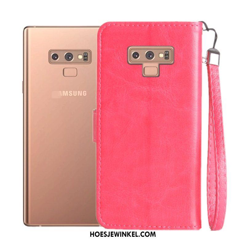 Samsung Galaxy Note 9 Hoesje Zacht Leren Etui Anti-fall, Samsung Galaxy Note 9 Hoesje Ster Mobiele Telefoon Braun