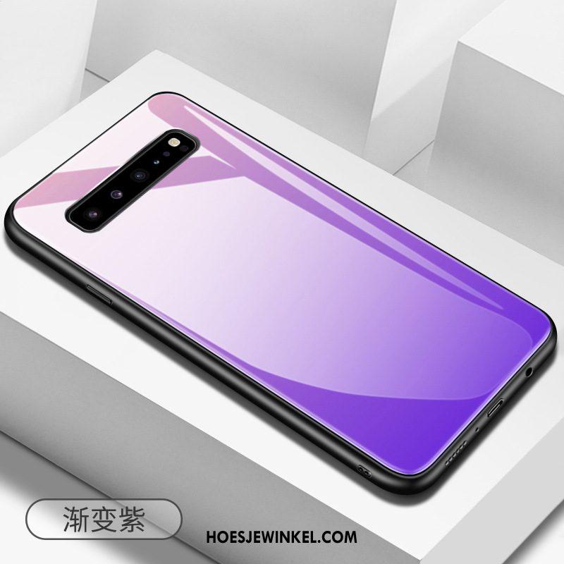 Samsung Galaxy S10 5g Hoesje Anti-fall Hoes Bescherming, Samsung Galaxy S10 5g Hoesje Mobiele Telefoon Effen Kleur