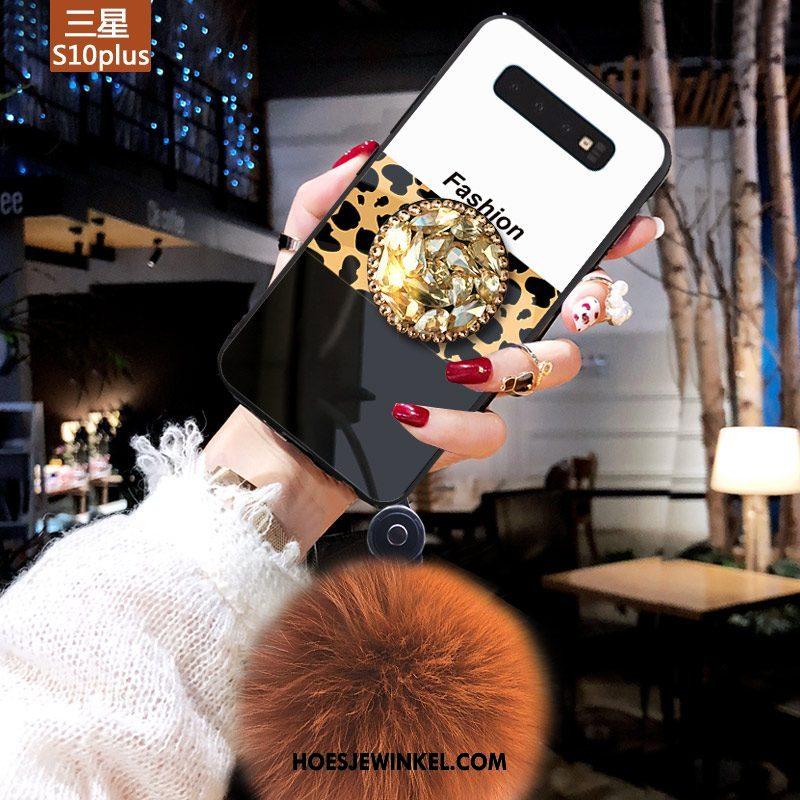 Samsung Galaxy S10+ Hoesje Jeugd Geel Ster, Samsung Galaxy S10+ Hoesje Anti-fall Mobiele Telefoon