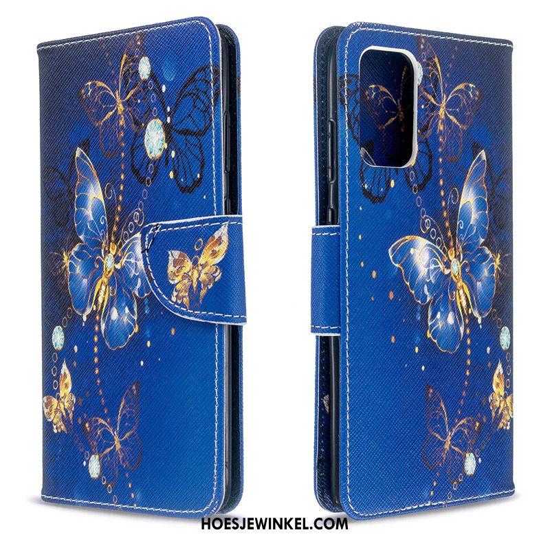 Samsung Galaxy S20 Hoesje Geschilderd Hoes Wit, Samsung Galaxy S20 Hoesje Ster Folio