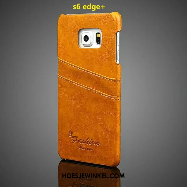 Samsung Galaxy S6 Edge Hoesje Ster Rood Mobiele Telefoon, Samsung Galaxy S6 Edge Hoesje Leren Etui Persoonlijk