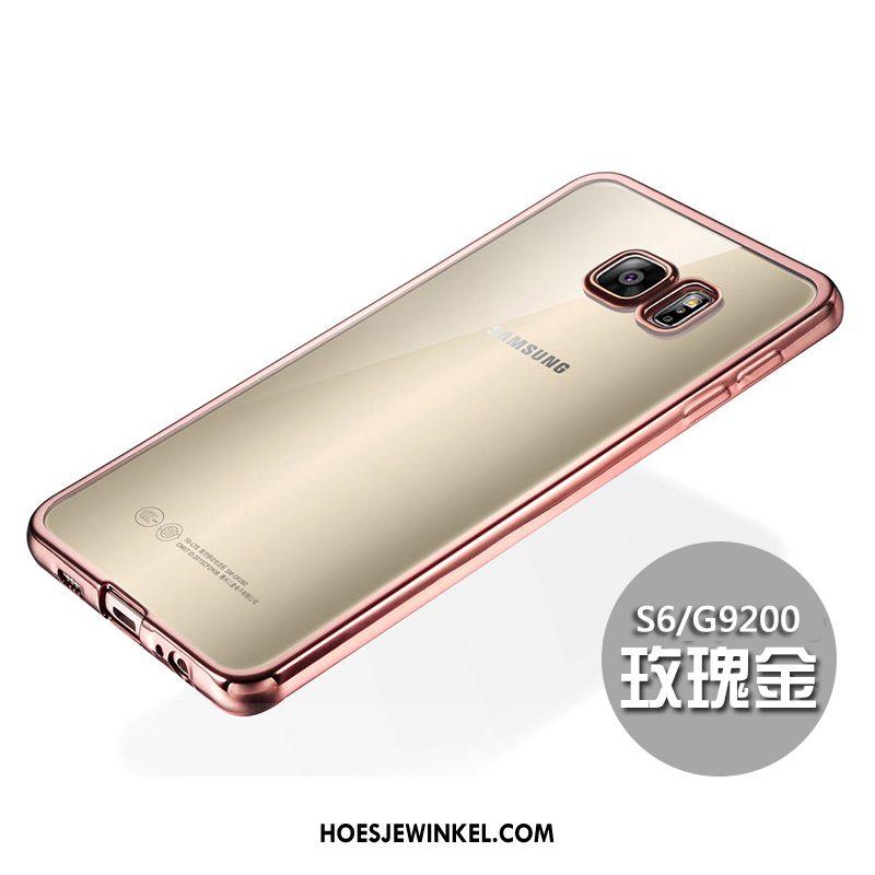Samsung Galaxy S6 Hoesje Dun Bescherming Siliconen, Samsung Galaxy S6 Hoesje Zacht Rose Goud