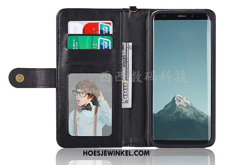 Samsung Galaxy S8+ Hoesje Rood Mobiele Telefoon Folio, Samsung Galaxy S8+ Hoesje Anti-fall Kaart Tas