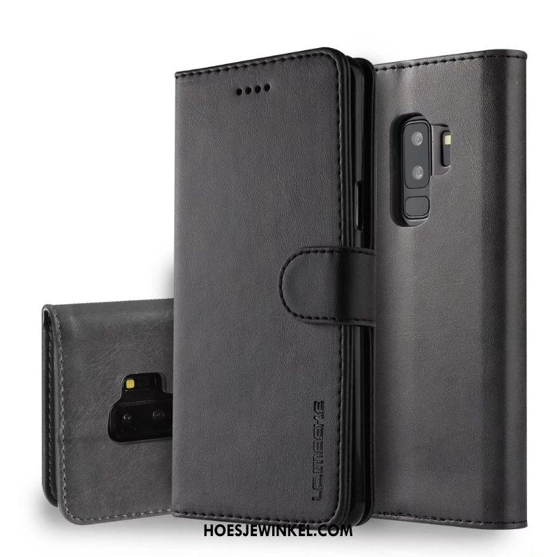 Samsung Galaxy S9+ Hoesje Bescherming Ster Leren Etui, Samsung Galaxy S9+ Hoesje Anti-fall Bedrijf