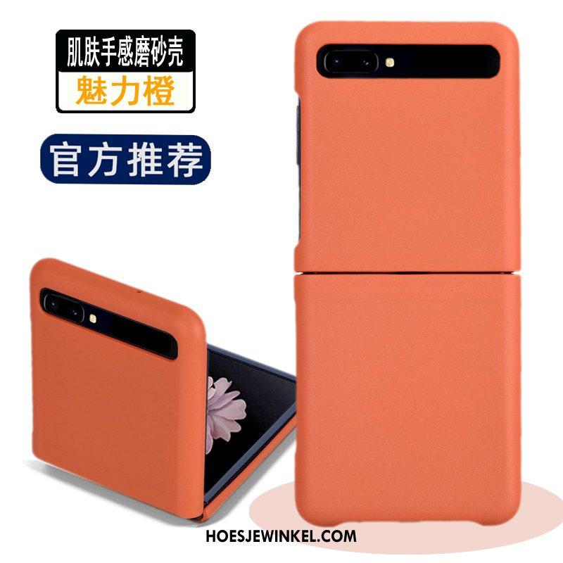 Samsung Z Flip Hoesje Blauw Ster Schrobben, Samsung Z Flip Hoesje Nieuw Mobiele Telefoon
