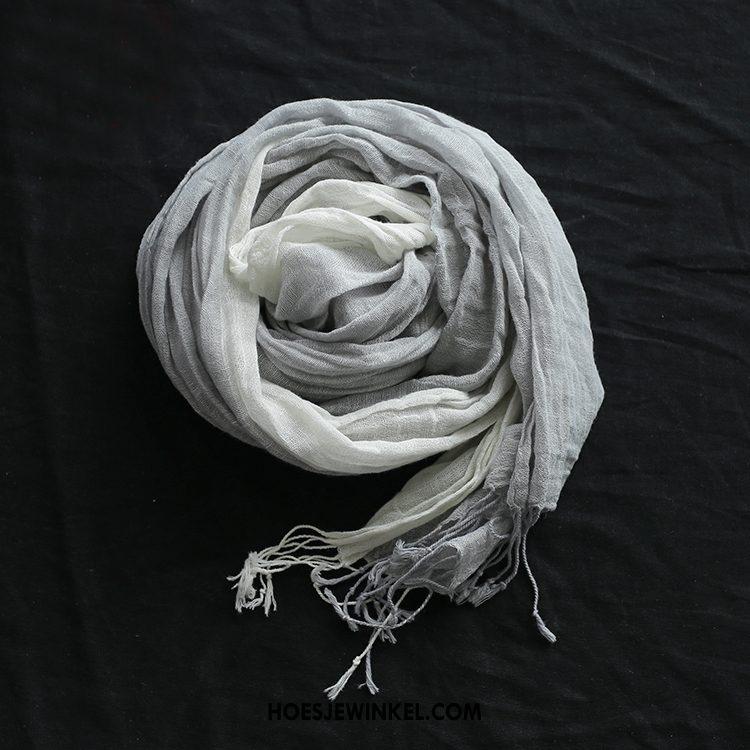 Sjaals Dames Vintage Zonnebrandcrème Alle Wedstrijden, Sjaals Grijs Hoofddoek Beige