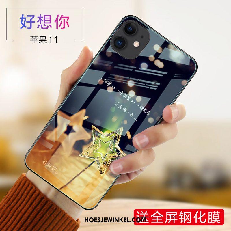 iPhone 11 Hoesje Bescherming Mobiele Telefoon Hoes, iPhone 11 Hoesje Net Red Blauw