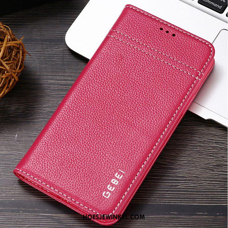 iPhone 11 Hoesje Echt Leer Persoonlijk Bescherming, iPhone 11 Hoesje Mobiele Telefoon Bedrijf