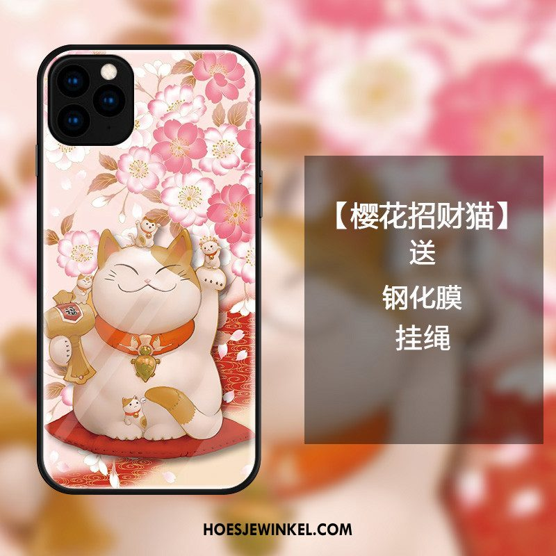 iPhone 11 Pro Hoesje All Inclusive Rijkdom Glas, iPhone 11 Pro Hoesje Spotprent Mobiele Telefoon