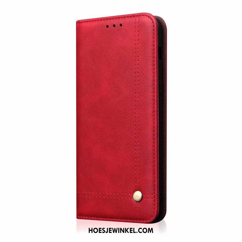 iPhone 11 Pro Hoesje Leren Etui Folio Vintage, iPhone 11 Pro Hoesje Nieuw Bedrijf