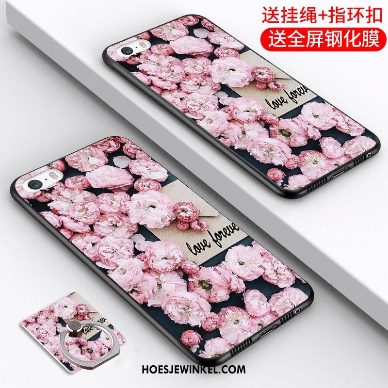 iPhone 5 / 5s Hoesje Spotprent Mobiele Telefoon Zacht, iPhone 5 / 5s Hoesje Anti-fall Grijs