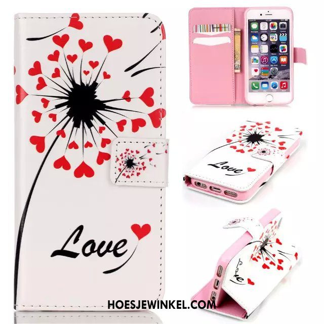 iPhone 5 / 5s Hoesje Spotprent Wit Mobiele Telefoon, iPhone 5 / 5s Hoesje Anti-fall Siliconen