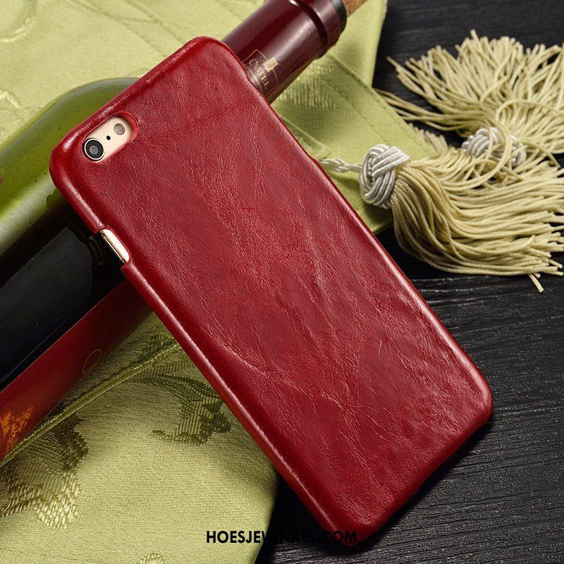 iPhone 6 / 6s Hoesje Mobiele Telefoon Bescherming Hoes, iPhone 6 / 6s Hoesje Achterklep Leren Etui Braun