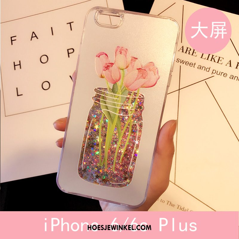iPhone 6 / 6s Plus Hoesje Roze All Inclusive Anti-fall, iPhone 6 / 6s Plus Hoesje Kat Drijfzand