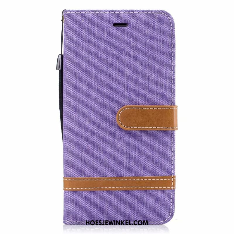 iPhone 8 Plus Hoesje Denim Mobiele Telefoon Folio, iPhone 8 Plus Hoesje Ondersteuning Hoes